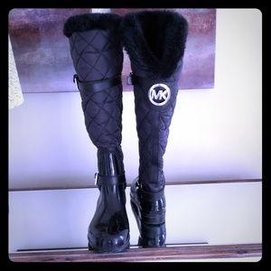 Michael Kors Black Winter/Rain Boots sz 7